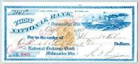1868 GREEN BAY WISCONSIN*1st NATIONAL BANK CHECK*STEAMER*STEAMSHIP*HENRY STRONG