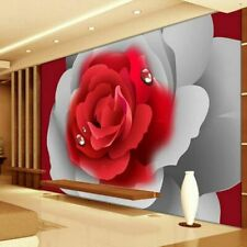 Bedding Room Wall Murals Romantic Rose 3d Wallpaper Thick Soundproof Wallpapers
