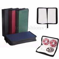 Borsa Custodia Porta CD DVD 80 Posti Raccoglitore Cordino Zipper Case