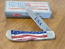 CASE XX New Star Spangled Bone Handle Single Blade Tribal Lock Knife/Knives