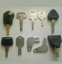 Heavy Equipment Key 10 Keys Cat Komatsu Case Bobcat JCB Hitachi JD Volvo Logo