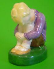 Vintage Royal Worcester Figure Purple top SLEEPY BOY 2918 Puce Mk Margaret Cane