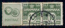 DENMARK (RE6) 10ore green PONTIAC advertising pair used