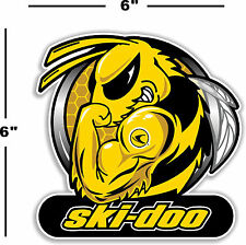 "SKID-5R RIGHT 12/"" SKIDOO SKI-DOO SNOWMOBILE REV SPARK PLUG BEE DECAL STICKER"