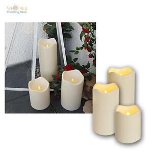 3er Set LED Candle for Outdoor Candles Flameless Elktrisch Candle Flickering