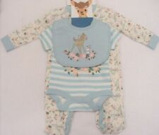 Disney Bambi Baby Girl Gift Set Vest Babygrow Sleepsuit Bib 0-3 Months Cute