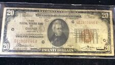 $20 Brown Seal Note From Chicago IL (series 1929)