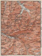 Muotathal Pragel & Sihltal. Silbern liedernen (kaiserstock) IBERG 1928 OLD MAP
