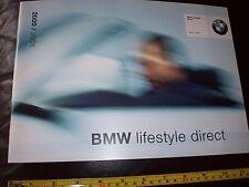 BMW Car Merchandise BROCHURE 2000 / 2001 lifestyle directORIGINAL new condition