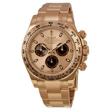 Rolex Daytona Pink Index Dial 18k Rose Gold Oyster Bracelet Mens Watch 116505PSO
