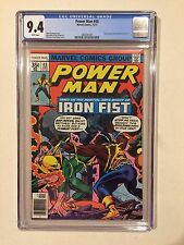 POWER MAN #48 CGC 9.4 1ST POWER MAN & IRON FIST TEAM-UP WHITE PAGES