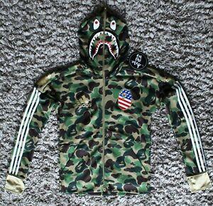 Adidas x Bape Superbowl SB Shark Green Camo Hoodie M L Medium Large New
