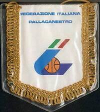 ITALY ITALIA BASKETBALL FEDERATION SMALL PENNANT 14x12cm NEW SEALED
