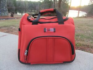 11O/DELSEY ORANGE/TRAVEL/OVERNIGHT CARRY ON BAG/DETACHABLE SHOULDER STRAP!