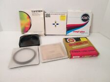 72mm Assorted Camera Filters & Rubber Collapsible Hood - Used