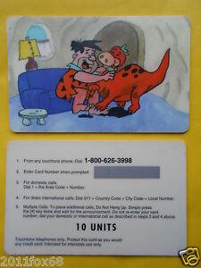 schede telefoniche telefonkarte phone cards 10 units i flintstones fred antenati