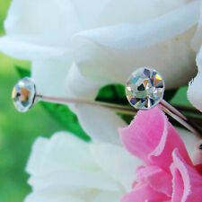 8MM RHINESTONE BOUQUET JEWELRY WEDDING FLOWERS CAKE JEWEL PIN SET OF 12
