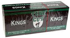 50 (Fifty) Gambler Tube Cut Menthol King Size Cigarette Tubes 200ct box RYO