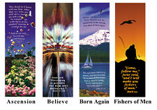 1 lot of 25 Artistic inspirational Bookmarks with Bible verse Christian gift