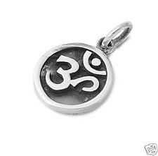 USA Seller Om Sign Pendant Sterling Silver 925 Hindu Aum Yoga Jewelry Gift 16mm