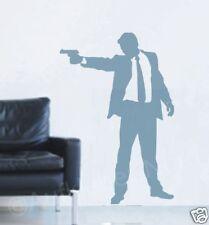 Mann con arma Adesivo da muro murale Decorazione A2 - 60cm Corridoio Agente