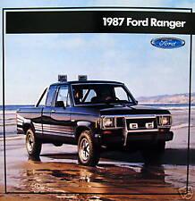 1987 Ford Ranger pickup truck  new vehicle brochure