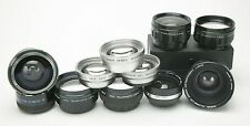 Grab Box For 11 Auxiliary/Conversion Lenses With Different Threads. All Clean.