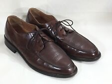 Mens Bostonian 13 M dress shoes men italian leather brown lace up size 13 medium