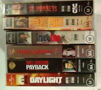 Bulk VHS Lot - 6 Classic Titles: 12 Monkeys, Hard Target, True Lies, Payback++