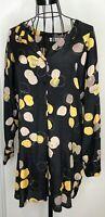 THE MASAI CLOTHING COMPANY Black Yellow Pattern Tunic Shirt Dress Small 8 10