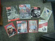 8 PC. VINTAGE & NEWER MAGAZINES - LIFE-TIME-& MORE - TAKE A PEAK ---->>>>>