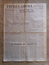 L'ITALIA LIBERA organo del Partito d'Azione n.57 venerdi 8 marzo 1946