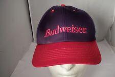 Budweiser Beer Dark Purple & Red Snapback Hat