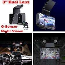 HD Dual Lens WIFI GPS 3'' Car DVR Dash Cam Recorder Parking Monitor Camera Kits