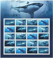 Sharks Sheet of 20 Forever Stamps Scott 5227