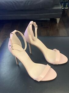 Women's Next Nude Stiletto heel Ankle Strap Sandals Size UK 7 EU 41