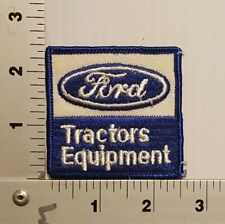 1980's FORD TRACTOR EQUIPMENT  VINTAGE EMBROIDERED PATCH