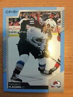 OPC 2020-2021 NAZEM KADRI BLUE BORDER HOCKEY CARD # 322 COLORADO AVALANCHE