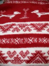 """RED & WHITE Jacquard reversible 50""""x70"""" New Throw Blanket Soft Warm"""