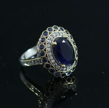Turkish Handmade Sterling Silver 925 Sapphire Ring 6,7,8,9  #MY56
