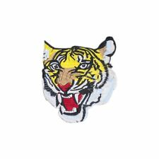 Tiger Head (Iron on) Embroidery Applique Patch Sew Iron Badge
