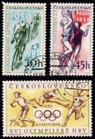 EBS Czechoslovakia 1956 - Cycling - Basketball - Olympics - Michel 965-967 CTO