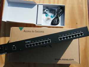 Moxa nport5610-16 nport 5610-16 5610 16 rev 3.2 EU 100-240 VAC 16 serial ports