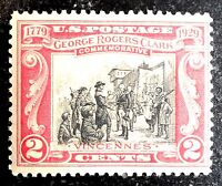Beautiful 1929 George Rogers Clark Commemorative Stamp Scott# 251 J253