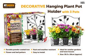 Garden Plant Pot Hanger Basket Hanging Planter Flower Pot Plants Holder Gifts
