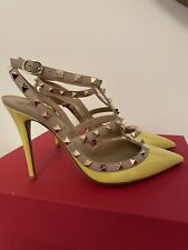 Valentino rockstud Yellow Patent Pumps IT39