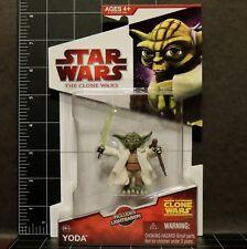 "Star Wars Yoda The Clone Wars Toy Figure #CW14 2009 MOC Brand New 3.75"""