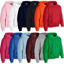 Plain Hooded Sweatshirt Brand New Mens Boys Girls Womens Hoodie Hoody All Sizes