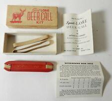 Vintage Sport Lore Deer Game Call In Box