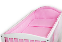 BABY 6PC BEDDING SET PILLOW DUVET  ALLROUND FIT COT 120x60 Pink